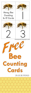 FREE Bee Math Cards