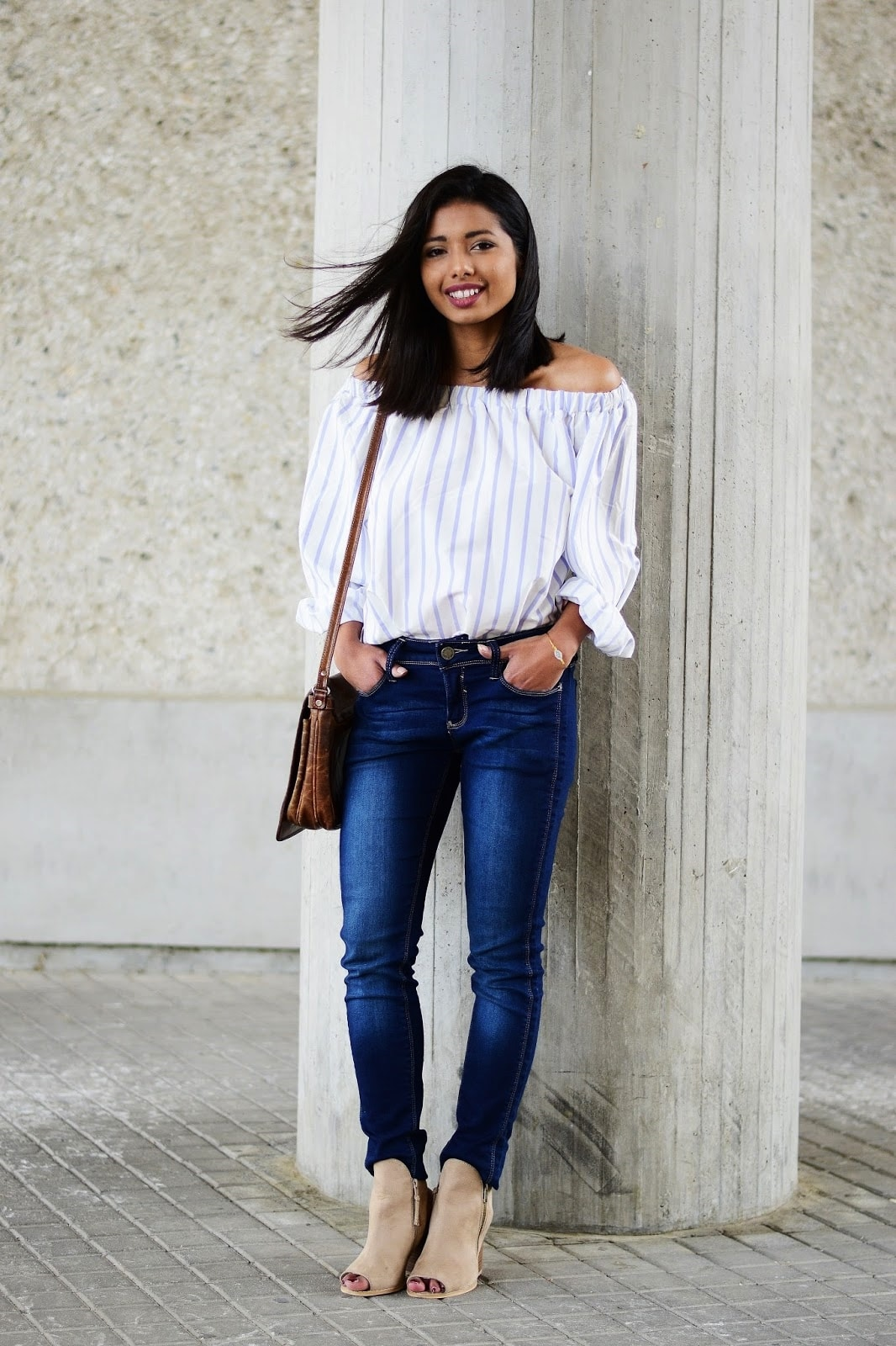 how to wear off-shoulder tops