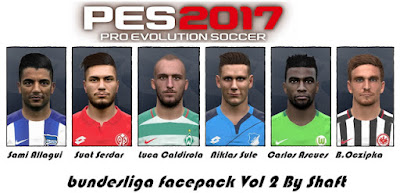 Shaft PES 2017 Bundesliga Face Pack V2