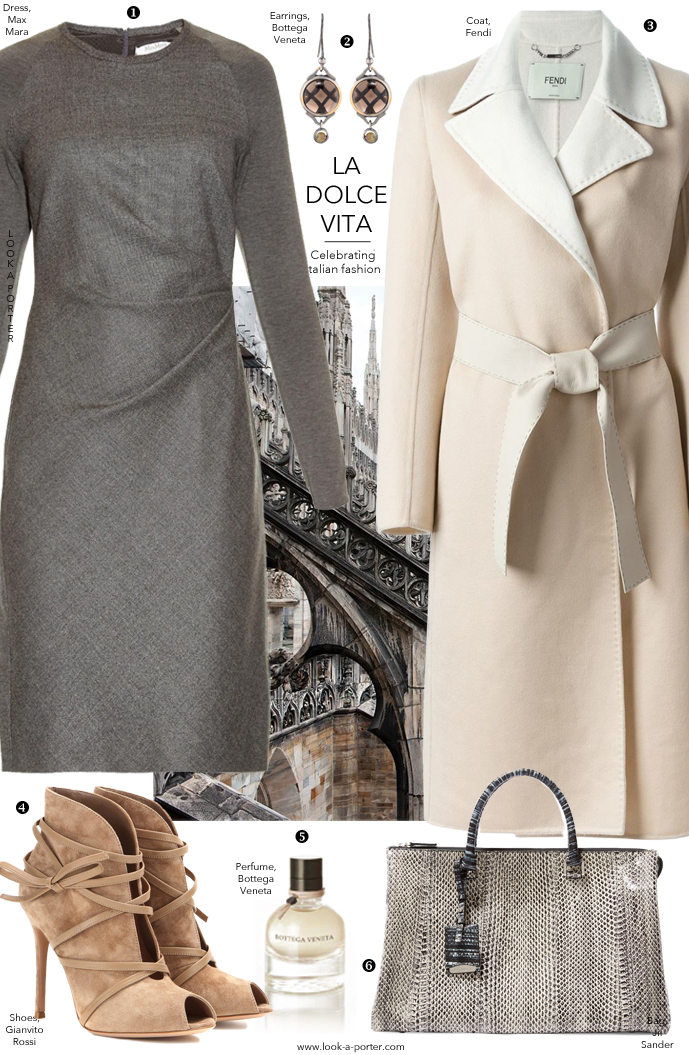 Another outfit idea inspired by Milan fashion week and Italian fashion designers and brands, and styled with Bottega Veneta, Armani, Prada, Sportmax, Casadei, Brunello Cucinelli, Salvatore Ferragamo, Jil Sander, Aquilano,Rimondi, Dolce & Gabbana, Miu Miu and more via www.look-a-porter.com, style & fashion blog