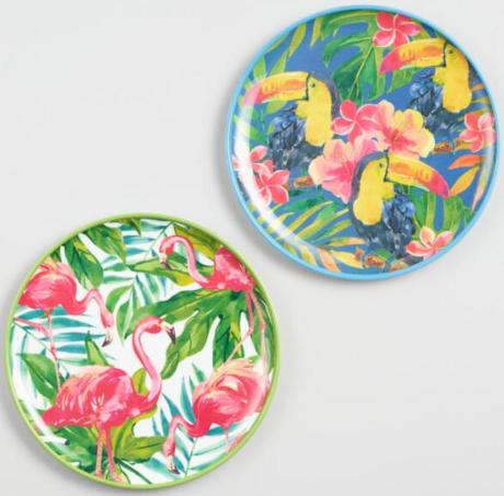 Tropical Melamine Plates
