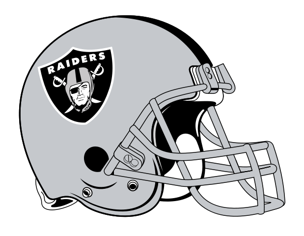 Oakland Raiders haciendo pis en