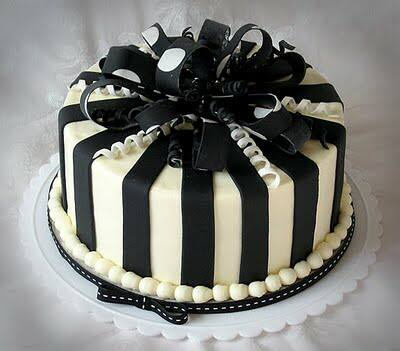 Black White Checkered Cakes