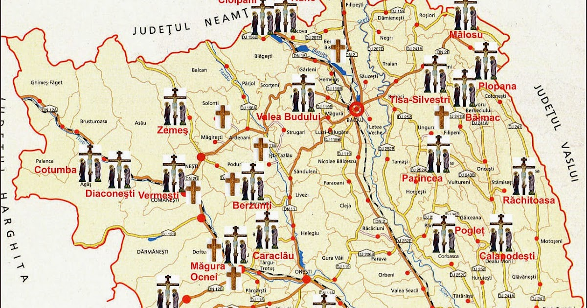 Deferlări Harta Mănăstirilor Si Schiturilor