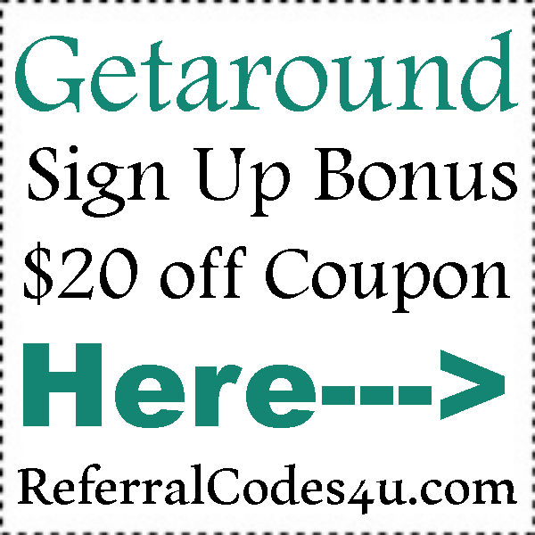 Getaround First Time Promo Code 2016-2017, Getaround Referral Codes August, September, October
