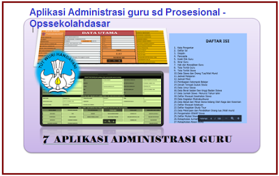 Aplikasi Administrasi guru sd Prosesional - Opssekolahdasar