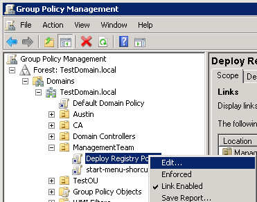 how to update registry value via group policy
