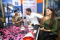 Pragya Jaiswal in a single Sleeves Off Shoulder Green Top Black Leggings promoting JJN Movie at Radio City 10.08.2017 001.JPG