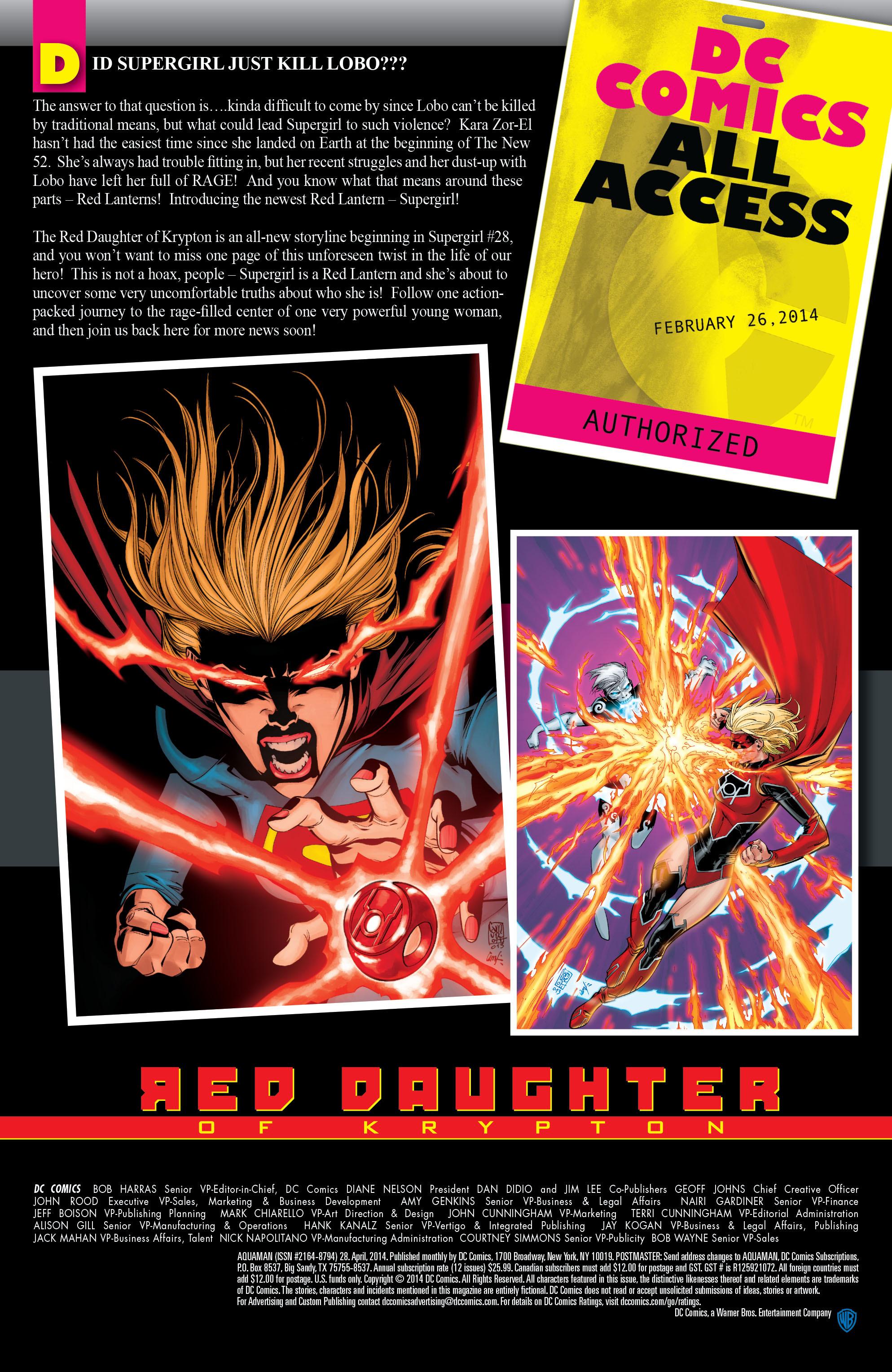 Read online Aquaman (2011) comic -  Issue #28 - 24