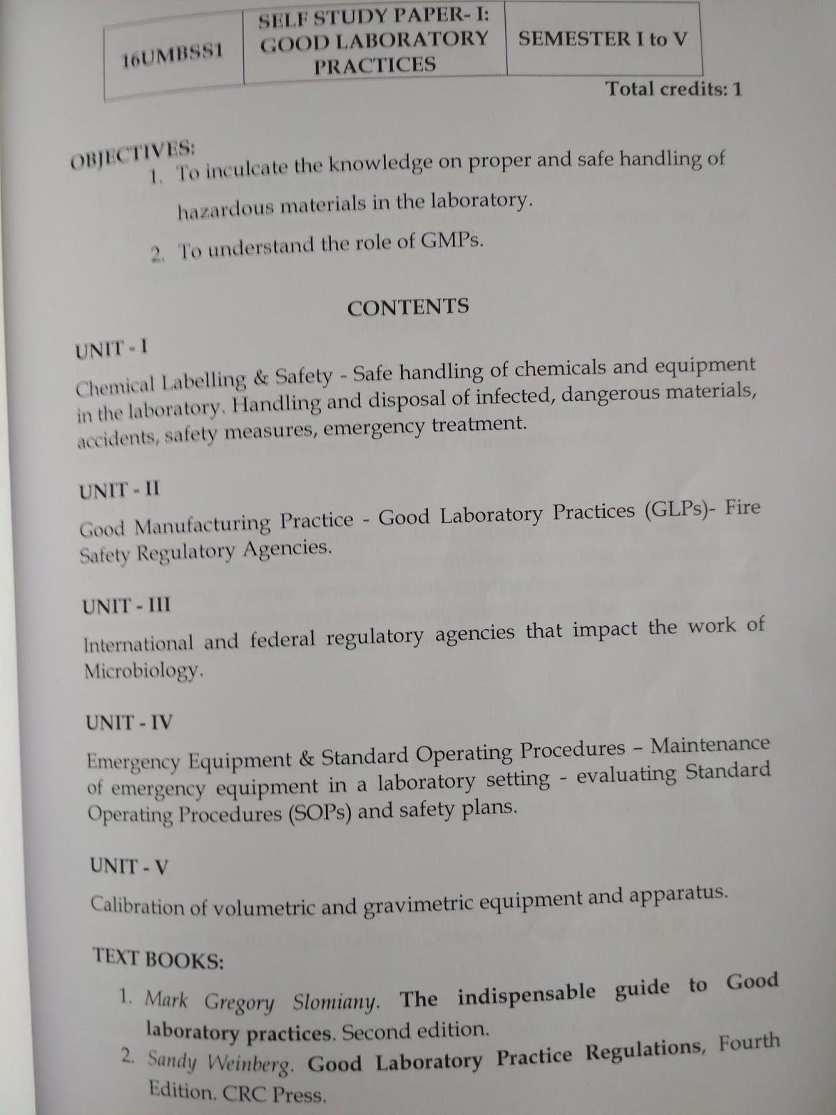 senthil prabhu sivasamy self study paper syllabus good self study paper syllabus good laboratory practices