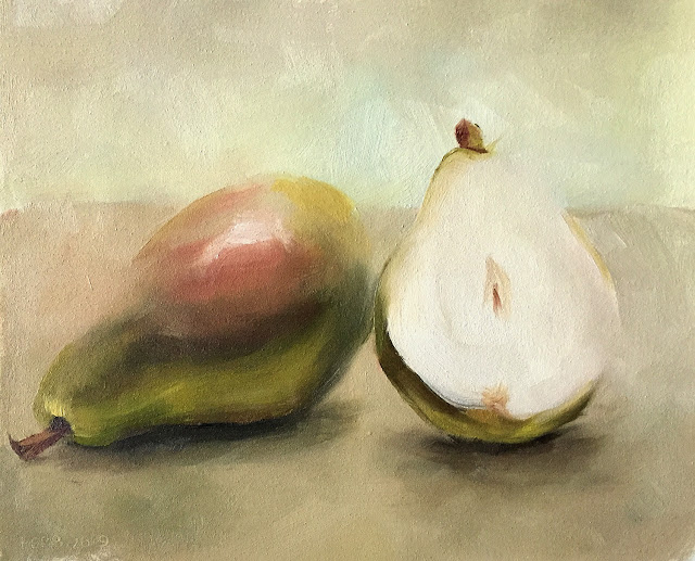 lost edge study in merging light values pears Feb-8-2019