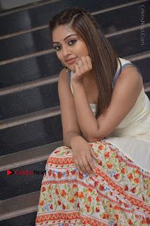 Telugu Actress Anu Emmanuel New Stills in Beautiful White Long Dress  0046.JPG