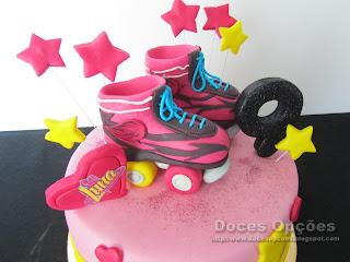 bolo aniversário patins bragança doces opções