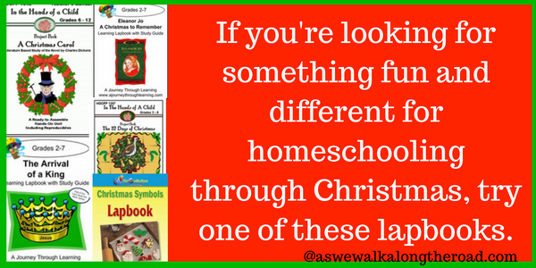 Christmas lapbooks for homeschool