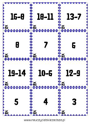 Gry matematyczne Ja mam Kto ma? Domino Memory