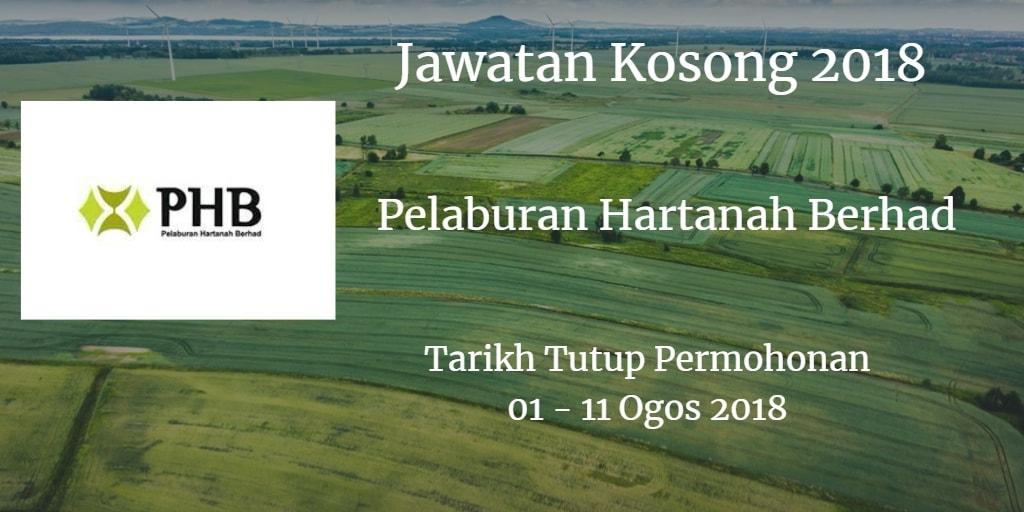 Jawatan Kosong Pelaburan Hartanah Berhad 01 - 11 Ogos 2018