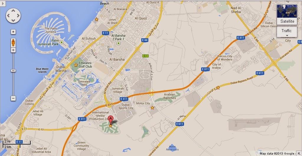 UAE Dubai Metro City Streets Hotels Airport Travel Map Info: Detail Jumeirah Golf Estates Dubai ...