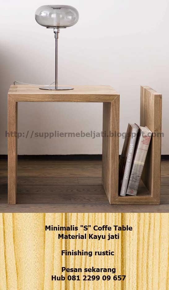Jual Furniture Jati Jepara Meja Tamu Minimalis Jati S