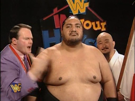 WWF / WWE - In Your House 4 - Great White North - Yokozuna prepares for his match against King Mabel