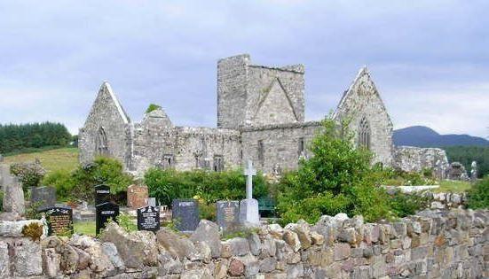 Burrishoole Abbey, Co Mayo. Photo courtesy of Bernie McCafferty and Ireland Genealogy Projects Archives
