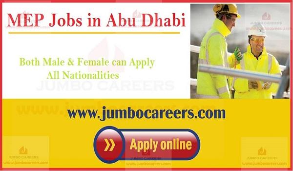MEP engineer jobs in UAE, MEP jobs with salary in Abu Dhabi,
