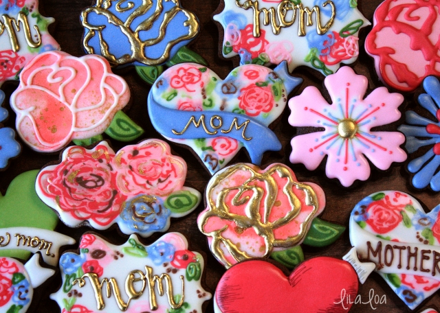 Floral print decorated sugar cookie tutorial