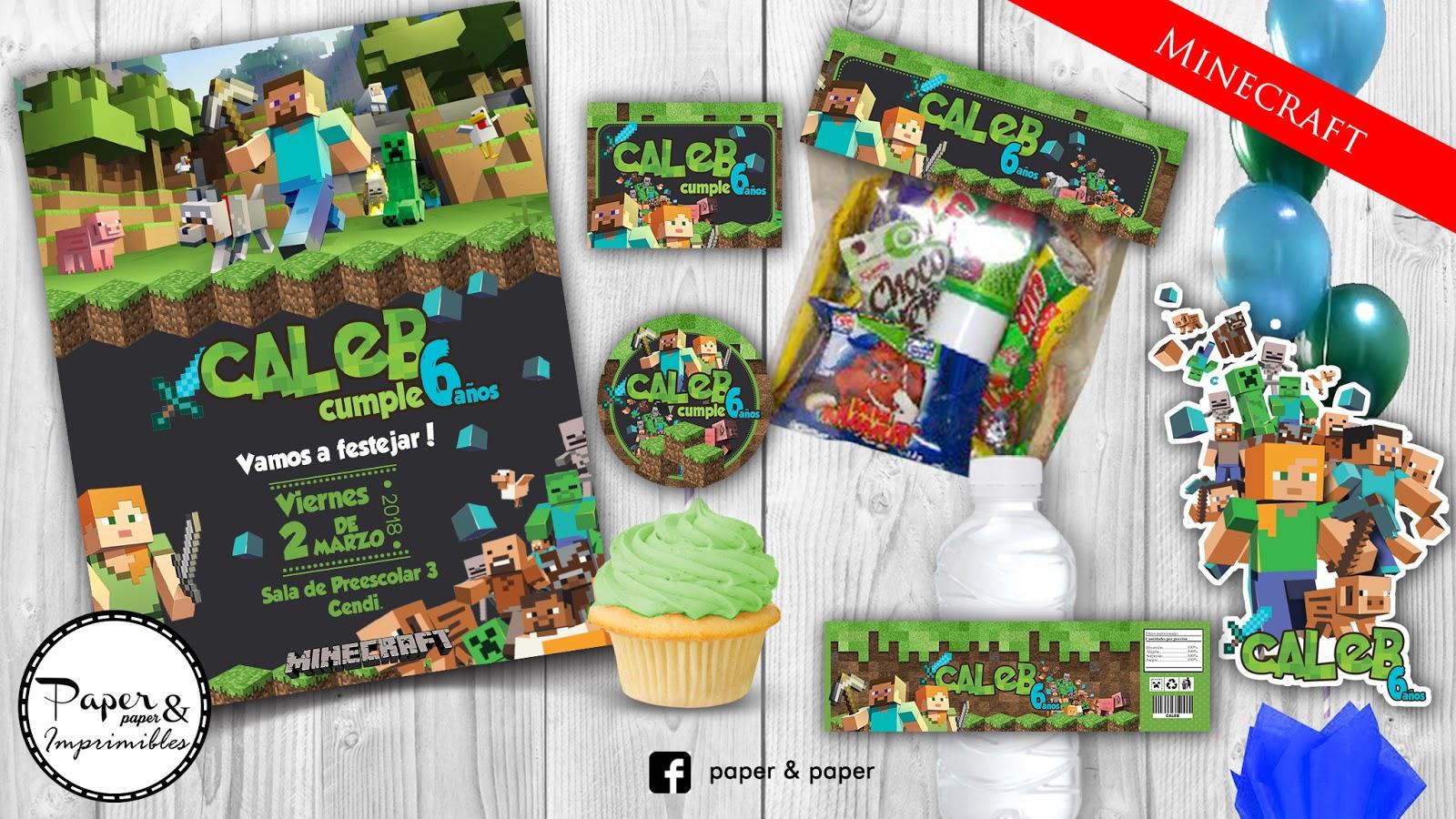 Invitacion Minecraft Para Imprimir Paper And Paper