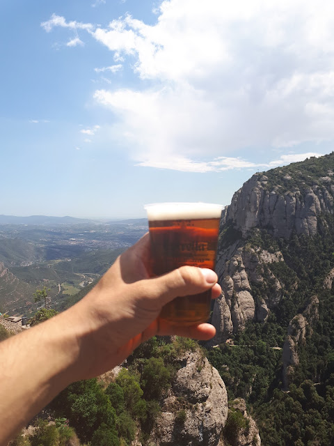 Cheers to beers at Montserrat in Catalonia, Spain