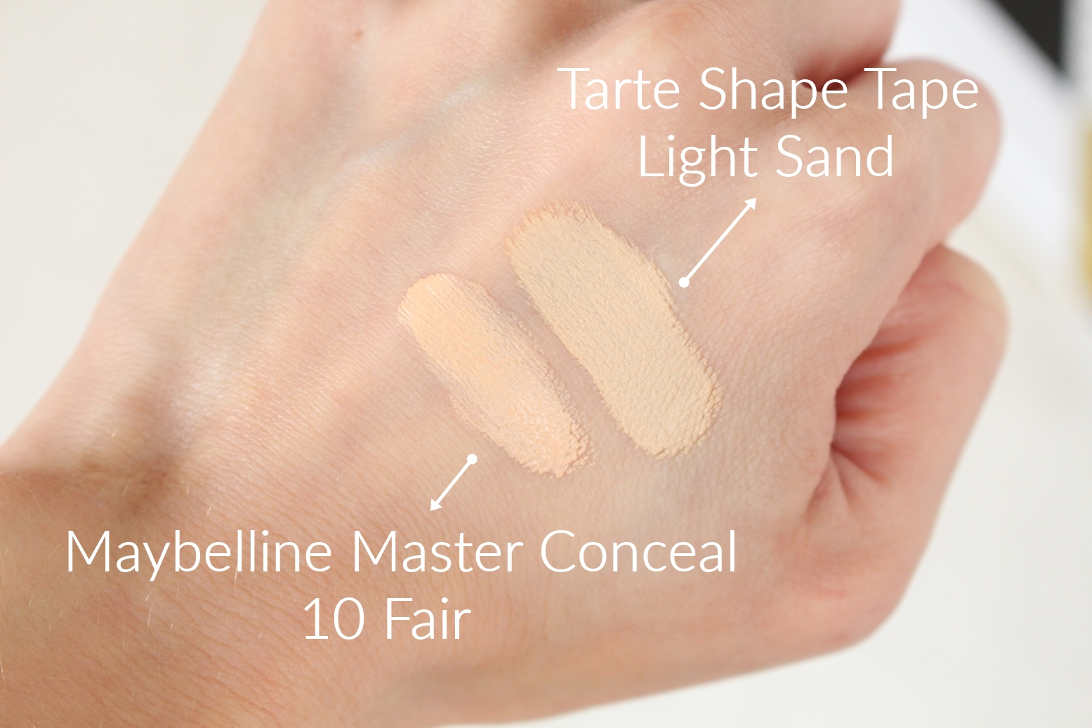 tarte-shape-tape-maybelline-maste-conceal-swatch