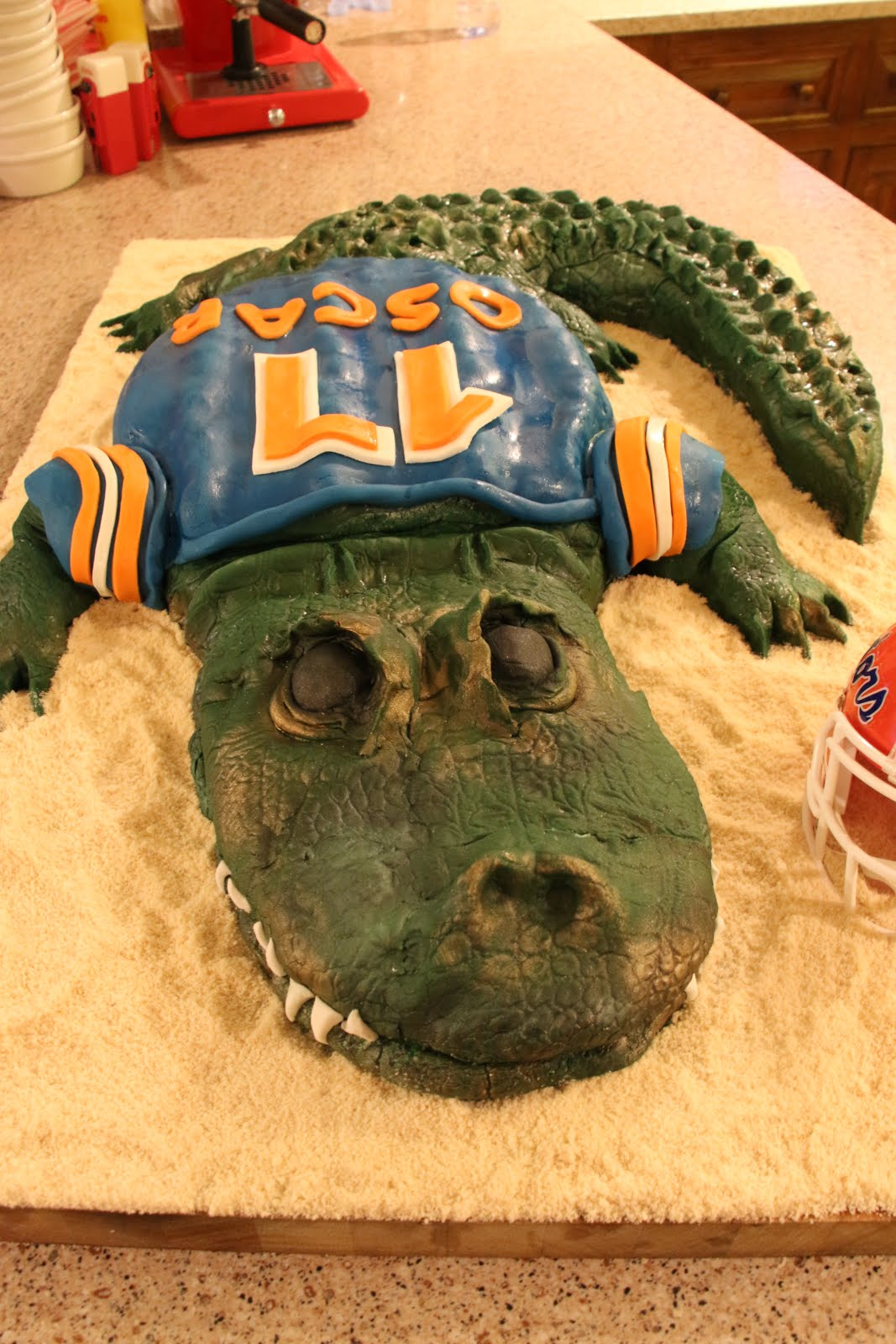 Oscar's Go Gators Birthday Cake