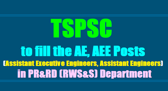 TSPSC to fill AE, AEE Posts (Assistant Executive Engineers,Assistant Engineers) in PR&RD (RWS&S) Department