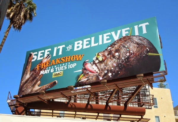 Freakshow season 2 Creature pierced man billboard