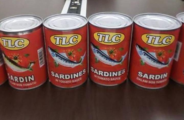 Jenama Sardin/Mackerel Dalam Tin Ada Cacing