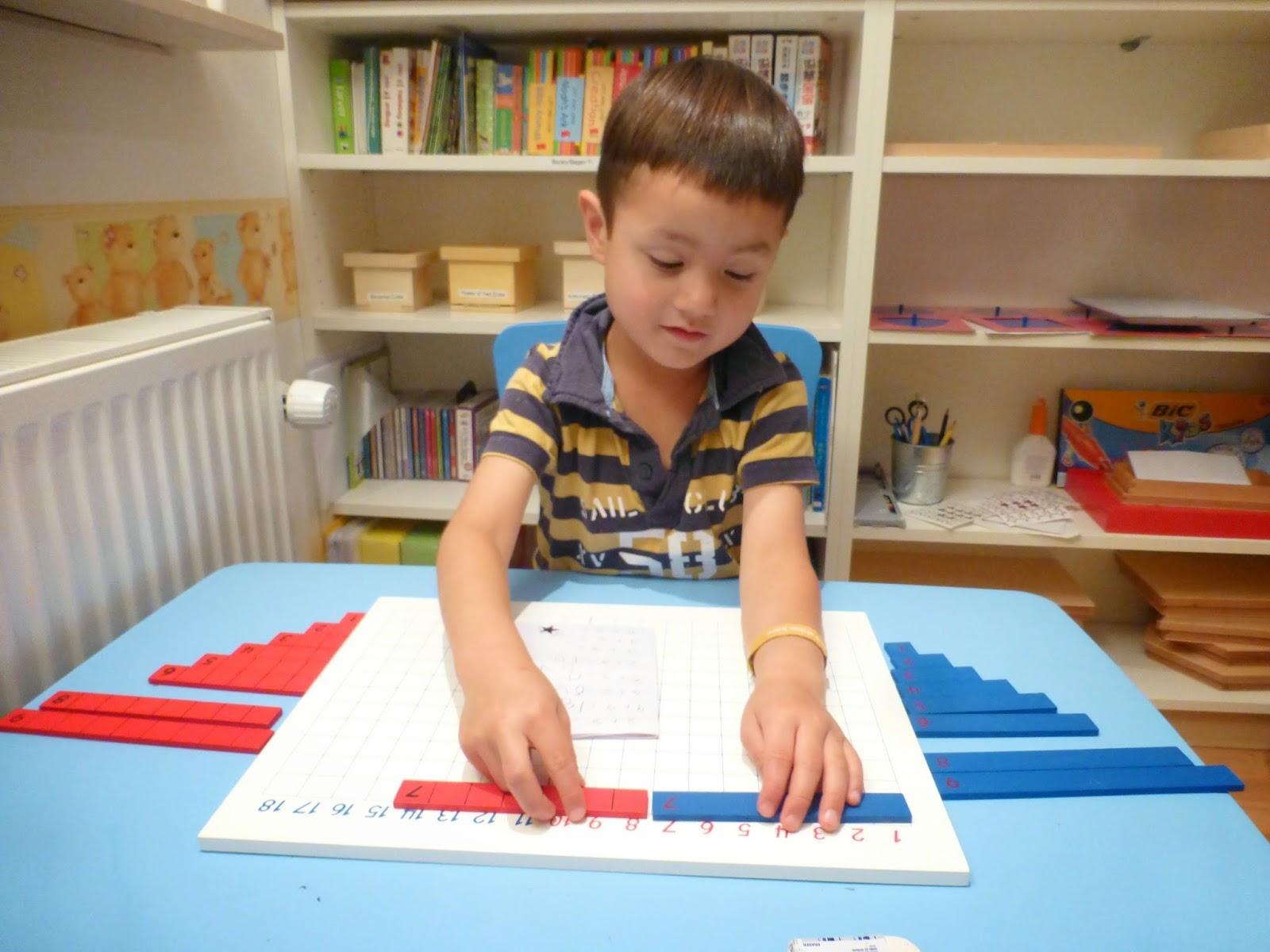 Family Fecs Montessori Activity Addition Strip Board