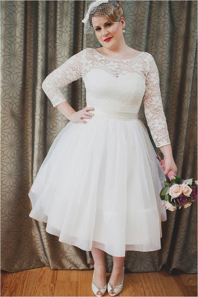 Kind a Must Plus Size Wedding Gown 3/4 Sleeves | my wedding bridal ...