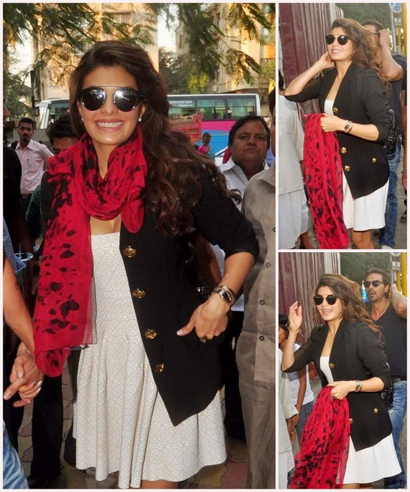 Jacqueline Fernandez at Mumbai to promote Roy