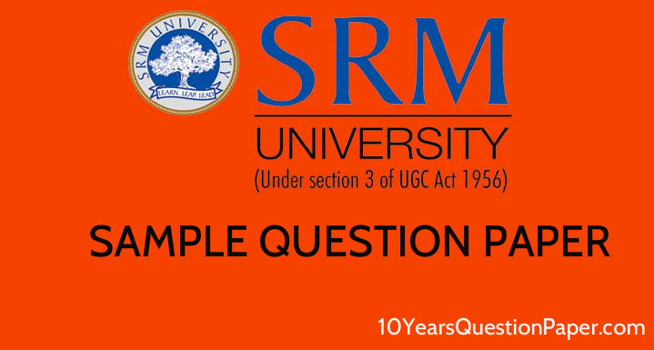 SRMJEE entrance exam sample Paper