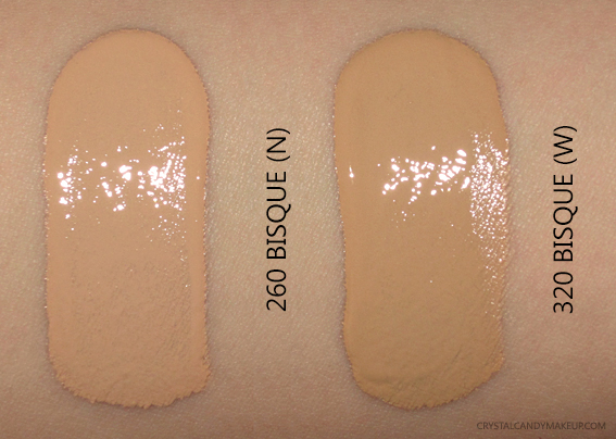 Lancôme Teint Idole Ultra Wear Foundation 260 320 Bisque Swatches