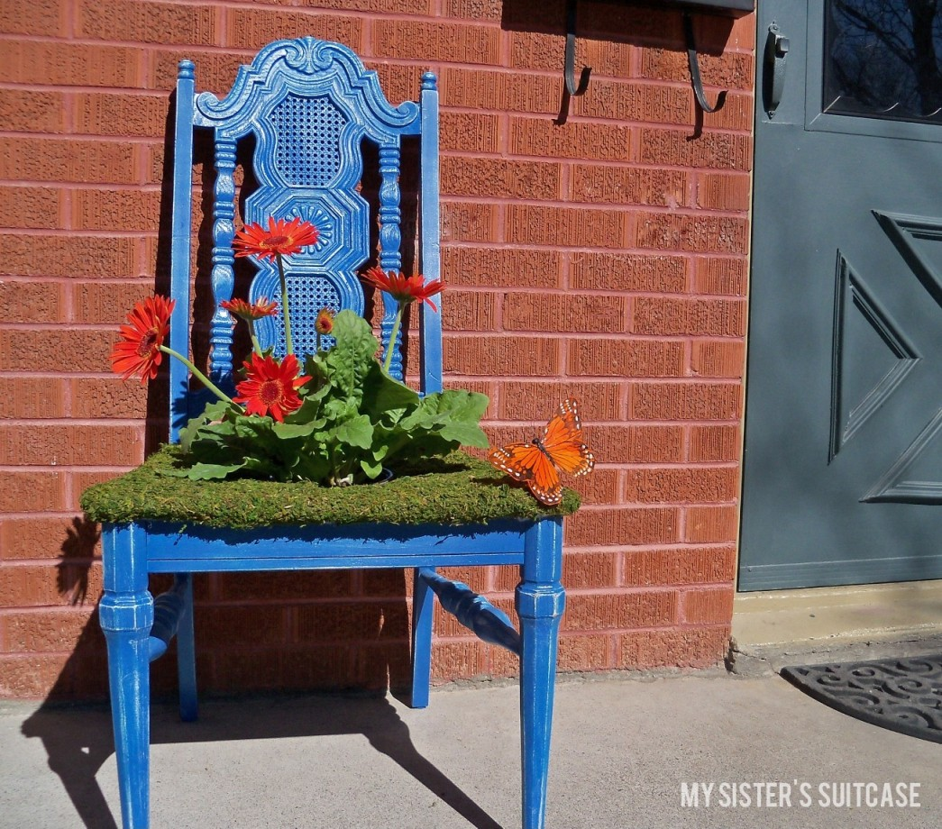 Planters Chairs: Spring Planter From A Thrifty Old Chair
