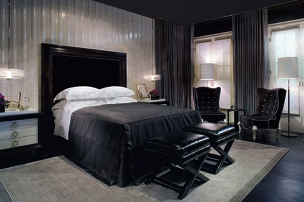 innenarchitektur design schlafzimmer schwarz wei. Black Bedroom Furniture Sets. Home Design Ideas