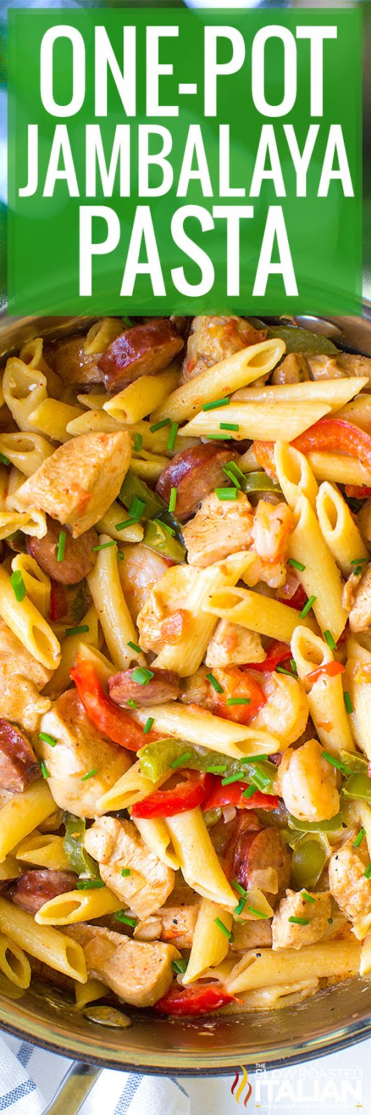 One Pot Jambalaya Pasta With Video