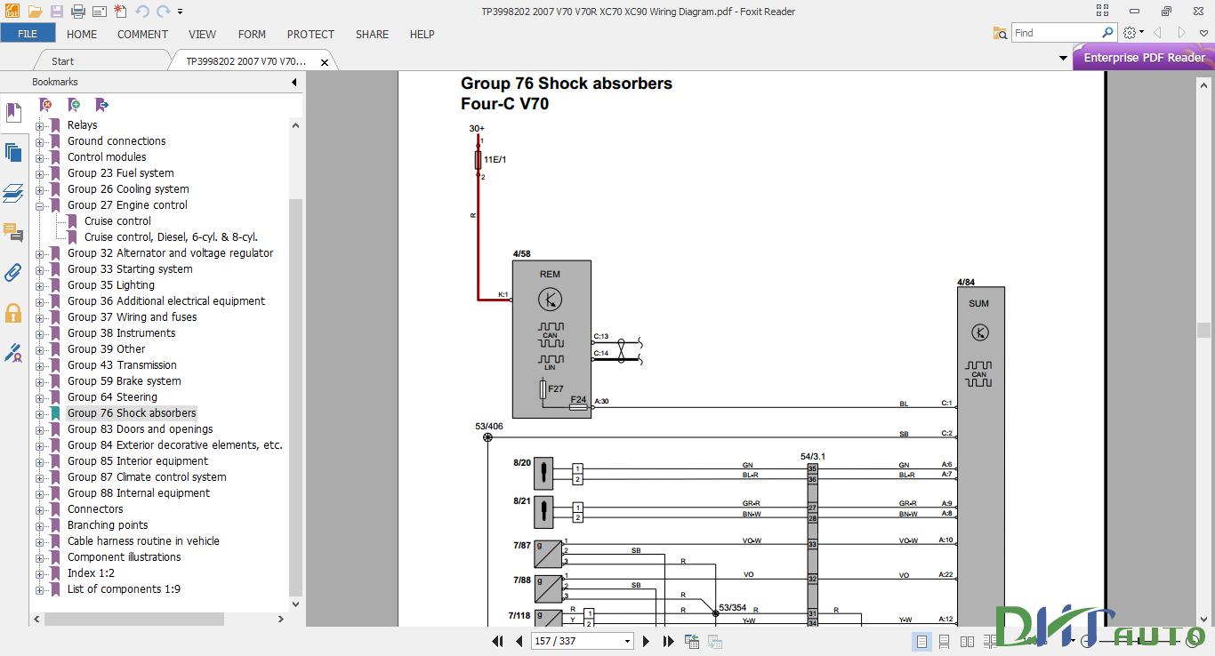V70 V70r Xc70 Xc90 2007 Wiring Diagram