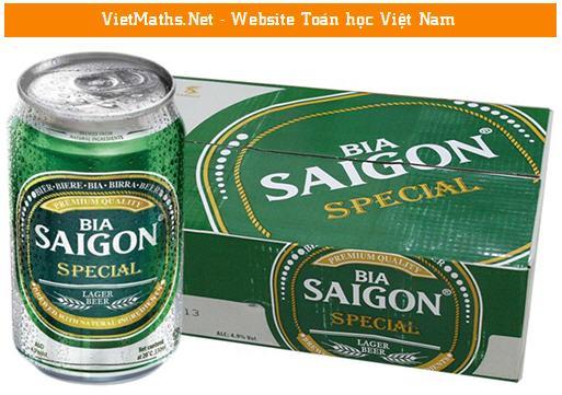 tình huống mô hình hóa thiết kế lon Bia Sài Gòn, dung kien thuc mo hinh hoa de thiet ke lon bia sai gon