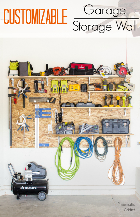 Learn How To Build A Custom Adjustable Garage Storage Wall