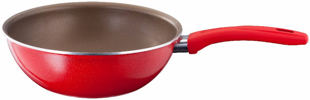 Chef pan in brilliant red