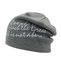 Warm Graphic Double-Deck Knit Beanie - Gray