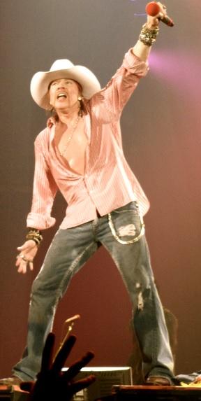 Foto de Axl Rose en concierto