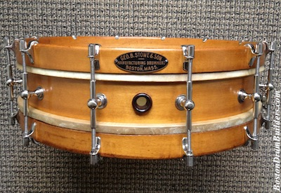 George B. Stone & Son 1922 Separate Tension Orchestra Drum