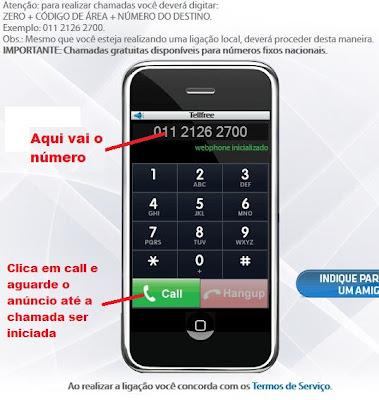 ligar gratis para o brasil