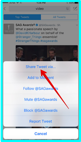 How to save videos from twitter on iphone